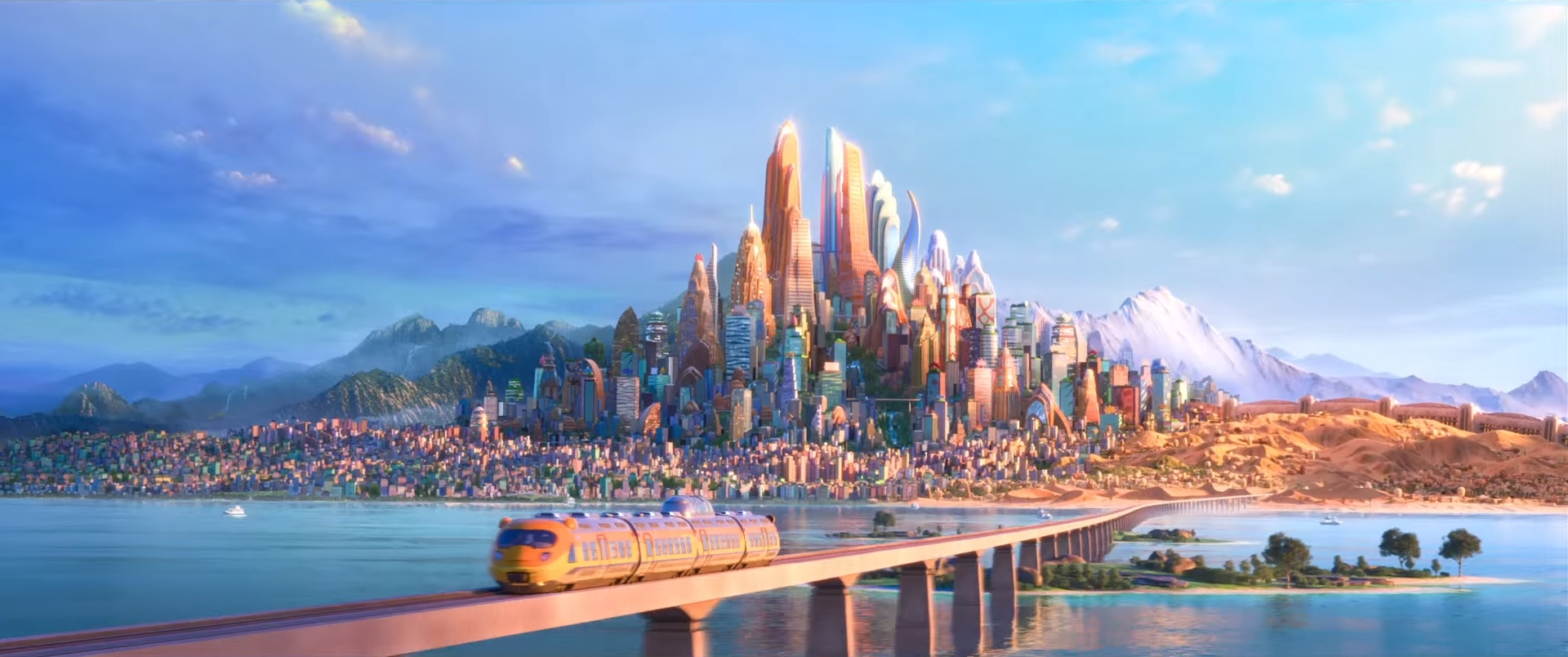 Image of the city of Zootopia Disney
