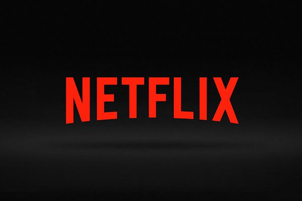 Netflix logo on black background