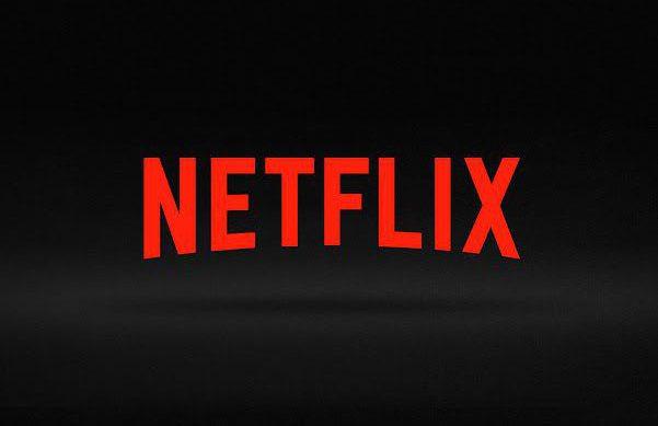 Netflix logo on black background